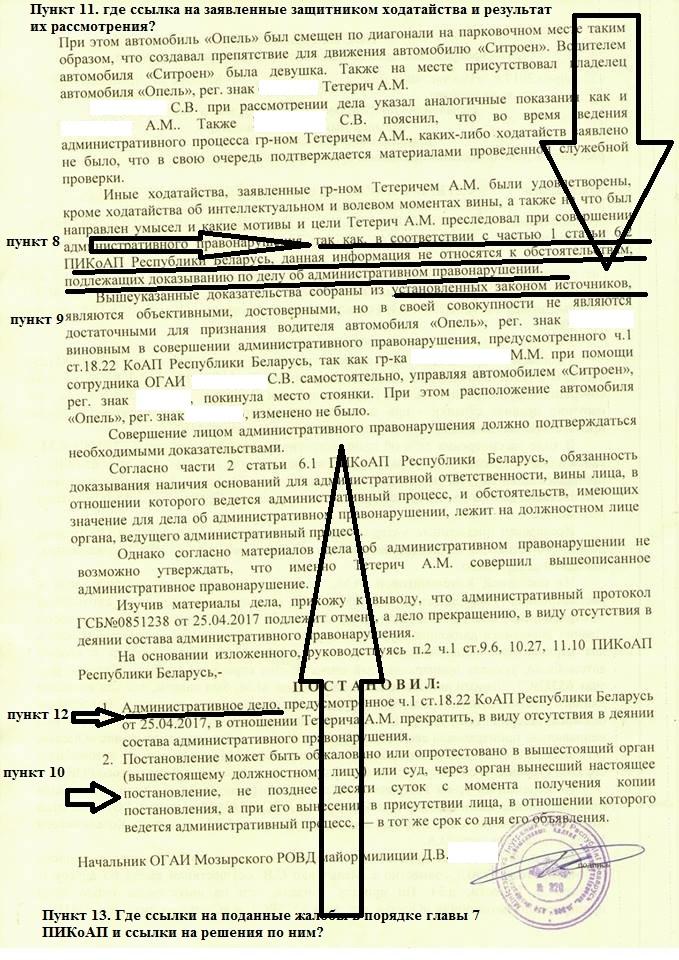 постановление по делу об административном правонарушении